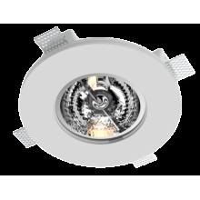Врезной гипсовый светильник Roden RD-255 ф190 мм AR-111