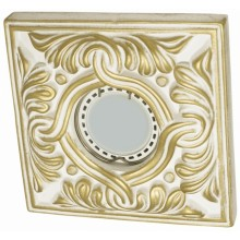 Светильник гипсовый Roden Light RD-002 WH/G белый с золотом
