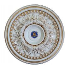 Розетка потолочная BRP58-2-F1 белый антик