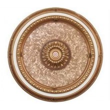 Панно 80RD-100H ABR PS круглое бронза антик/дерево светлое