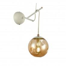 SLE110201-01 Светильник настенный Белый/Янтарный E14 1*40W