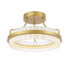 SL383.202.01 Светильник потолочный ST-Luce Матовое золото/Прозрачный LED 1*34W