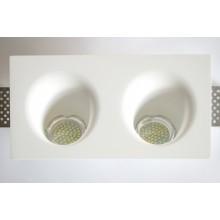 Врезной гипсовый светильник SV 7428 ф120 мм