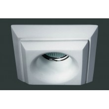 Гипсовый светильник SvDecor SV 7019 белый ф125 мм