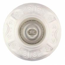 Гипсовый светильник SvDecor SV 7029 белый ф106 мм