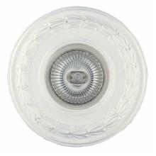 Гипсовый светильник SvDecor SV 7033 белый ф108 мм