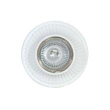Гипсовый светильник SvDecor SV 7027 белый ф100 мм