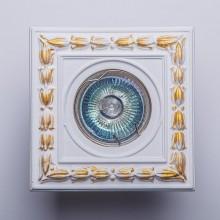 Гипсовый светильник SvDecor SV 7066 белый ф108 мм