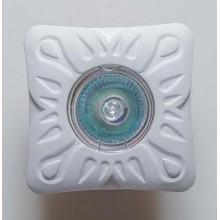 Гипсовый светильник SvDecor SV 7072 белый 100*100 мм