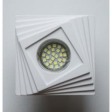 Гипсовый светильник SvDecor SV 7135 белый 100*100 мм