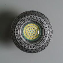 Гипсовый светильник SvDecor SV 7178 ASL серебро ф100 мм
