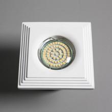 Гипсовый светильник SvDecor SV 7155 белый 98*98 мм