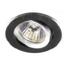 Светильник встраиваемый поворотный Светкомплект AT 21 BK Ø82мм, в.о. 68мм
