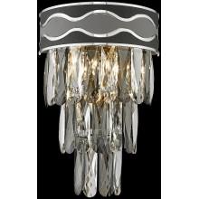 Бра хрустальное Wertmark WE135.03.101 Calista E14 40 Вт хром, серый, черный, прозрачный