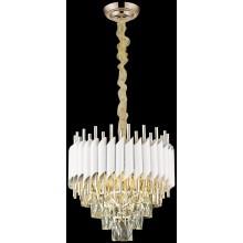 Хрустальная люстра Wertmark WE138.09.003 Cartuccia E14 40 Вт белый, белое золото