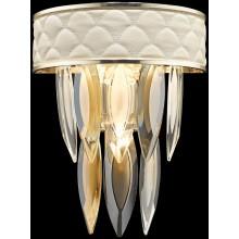 Бра хрустальное Wertmark WE143.03.301 Ornella E14 40 Вт белое золото, прозрачный, дымчатый, янтарный
