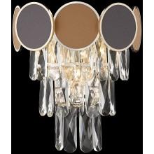 Бра хрустальное Wertmark WE145.03.301 Oriana E14 40 Вт золото, коричневый, бежевый, прозрачный
