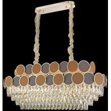 Хрустальная люстра Wertmark WE145.14.303 Oriana E14 40 Вт золото, коричневый, бежевый, прозрачный