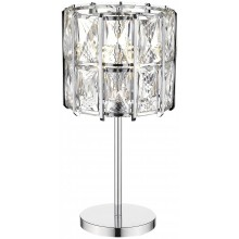 Настольная лампа Wertmark WE148.04.104 Karlin E14 40 Вт хром, прозрачный