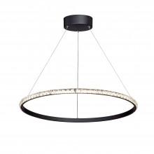 Люстра светодиодная Vitaluce V4628-1/1S LED 38Вт 3900-4200K черный матовый