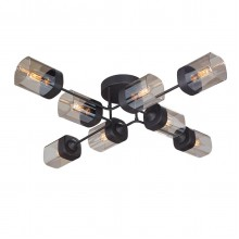 Люстра потолочная Vitaluce V4889-1/8PL 8хЕ27 40Вт черный матовый