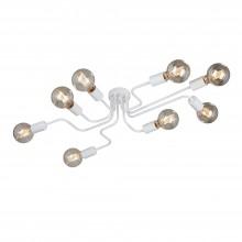 Люстра потолочная Vitaluce V4196-0/8PL 8хЕ27 40Вт белый матовый