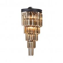 Бра Vitaluce V5154-1/6A, 6хЕ14 макс. 40Вт черный матовый