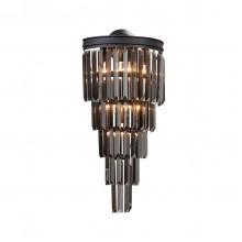 Бра Vitaluce V5155-1/6A, 6хЕ14 макс. 40Вт черный матовый
