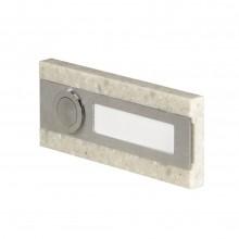 Кнопка звонка Zamel 1-я декоративная прямоугольная PDK 250/1
